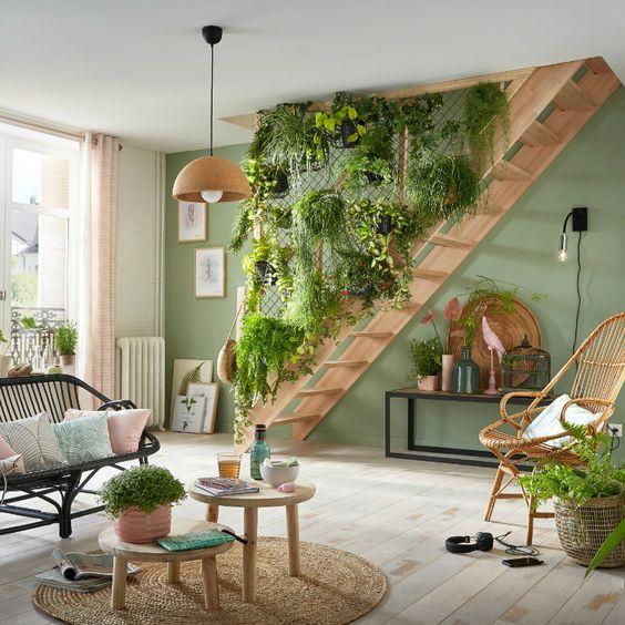 jardin suspendu escalier